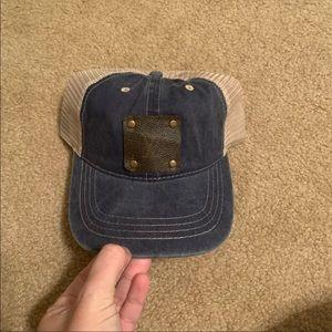 Denim trucker hat